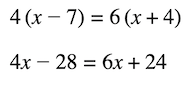 ifadeler ve denklemler: çok adımlı denklem