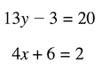 cebirsel denklemler