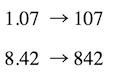 ondalık sayıları çarpma: ondalıktan tam sayılara